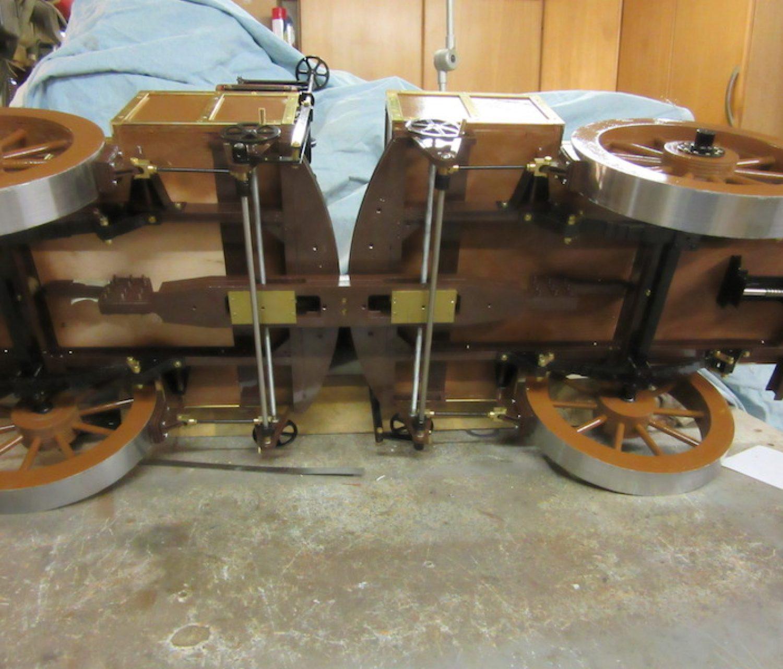 Der Lenkmechanismu s der beiden Anhängewagen